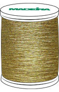 Madeira FS Metallic #40 Embroidery Thread - Spools 1,100 yds Gold 3 - Color 4003