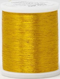Madeira FS Metallic #40 Embroidery Thread - Spools 1,100 yds Gold 5 - Color 4005