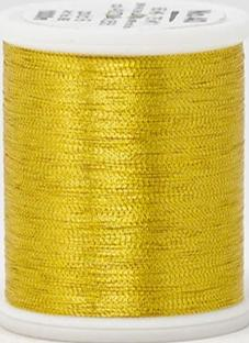 Madeira FS Metallic #40 Embroidery Thread - Spools 1,100 yds Gold 6 - Color 4006