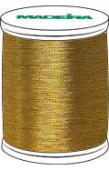 Madeira FS Metallic #40 Embroidery Thread - Spools 1,100 yds Gold 7 - Color 4007