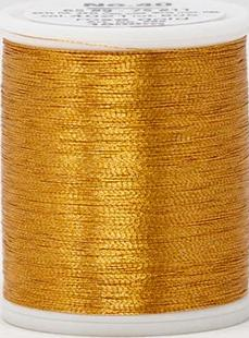 Madeira FS Metallic #40 Embroidery Thread - Spools 1,100 yds Rose Gold - Color 4021