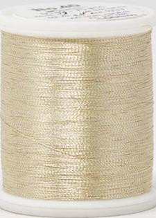 Madeira FS Metallic #40  Embroidery Thread - Spools 1,100 yds White Gold - Color 4022