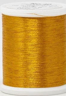 Madeira FS Metallic #40 Embroidery Thread - Spools 1,100 yds Amber - Color 4026