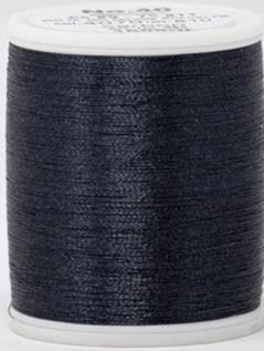Madeira FS Metallic #40 Embroidery Thread - Spools 1,100 yds Carbon - Color 4070