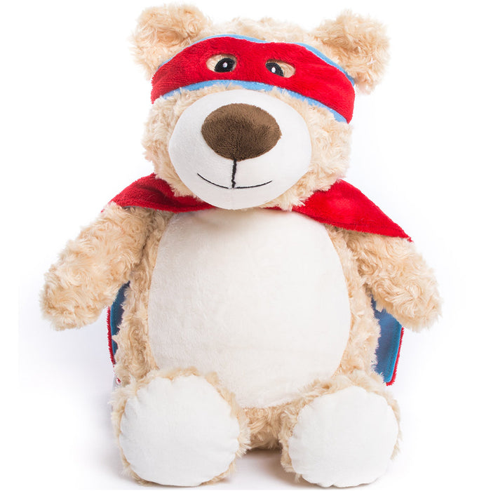 Cubbies Red SuperHero Bear Embroidery Blank