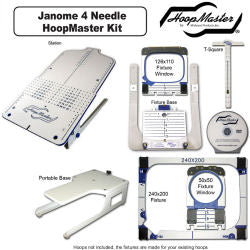 HoopMaster Hooping Station: For Janome MB4/Melco EP4/Elna 940 - 4 Needle Embroidery Machine