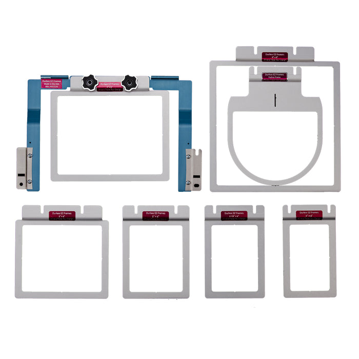 Durkee EZ Frames 7 Piece Combo Pack for Brother Persona, Baby Lock Alliance