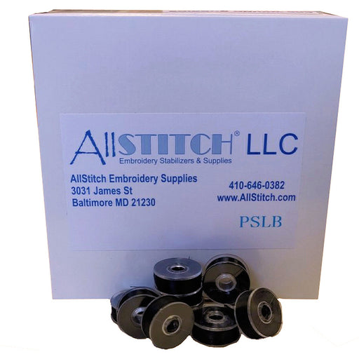 AllStitch Embroidery Supplies Plastic Sided Bobbins - Style L BLACK