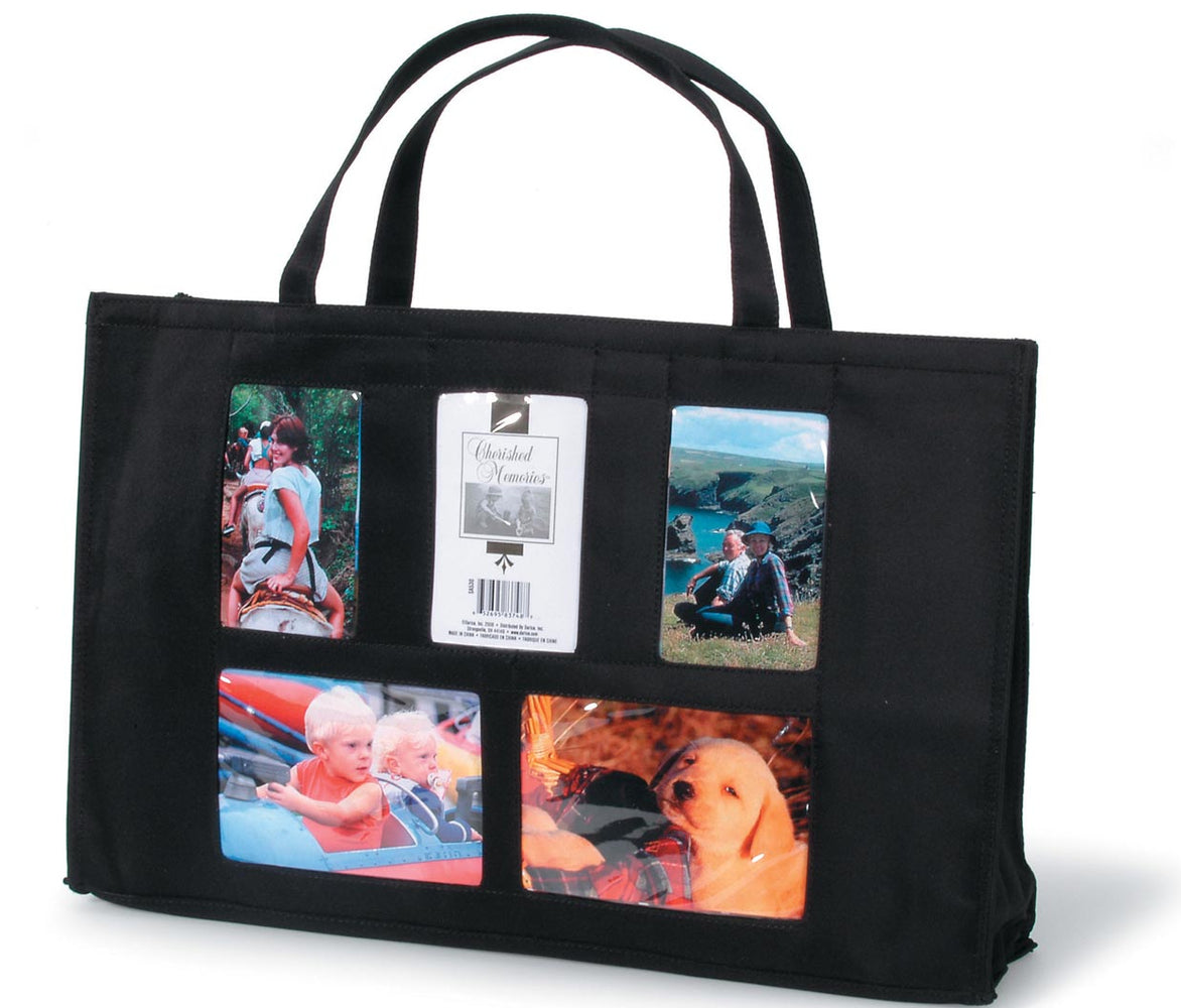 Photo Tote Bag - 5 Windows - 12 X 19 Inches Item # SA530BLK