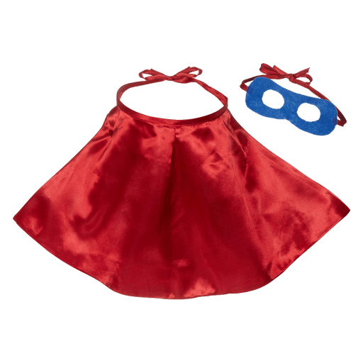 Red Superhero Cape & Blue Mask For EBs & Cubbies