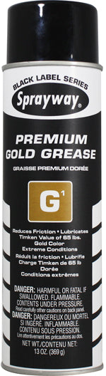 Sprayway 294 Black Label: G1 Premium Gold Lithium Spray Grease