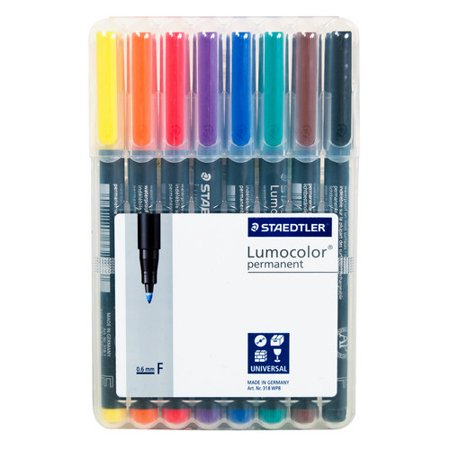 Lumocolor Permanent Marker Fine Set 8