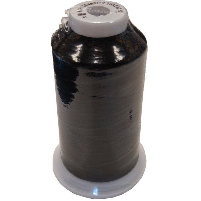 Cone of Black Embroidery Machine Bobbin Thread