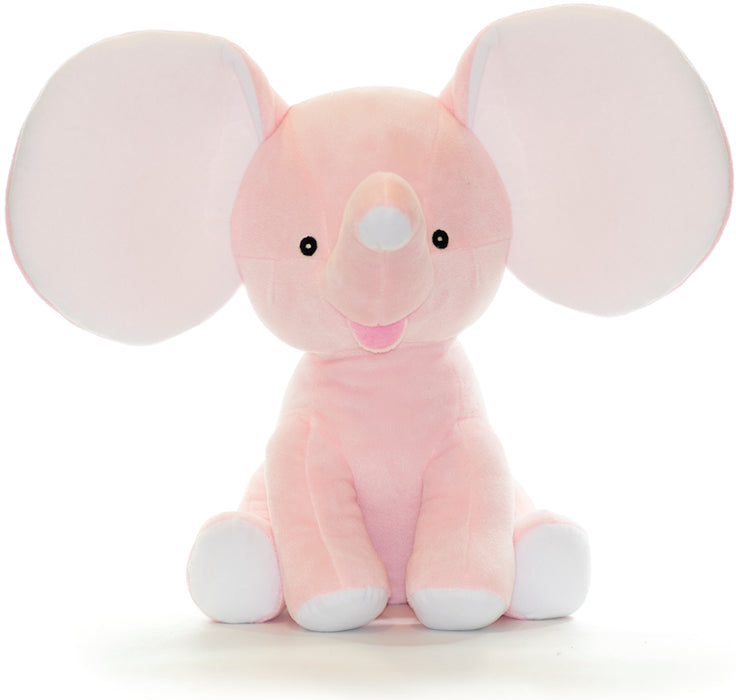 "Cubbies Dumble - 12"" Elephant w/Embroiderable Ears - Pink"