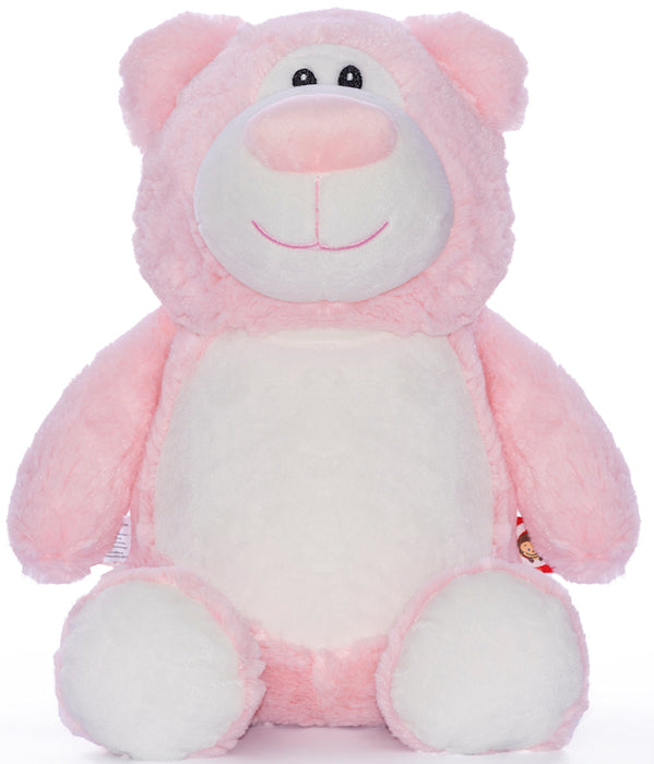 Cubbies Embroidery Blank - Cubbyford Teddy Bear - Pink