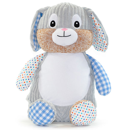 Cubbies Harlequin Collection Bunny Rabbit - Blue