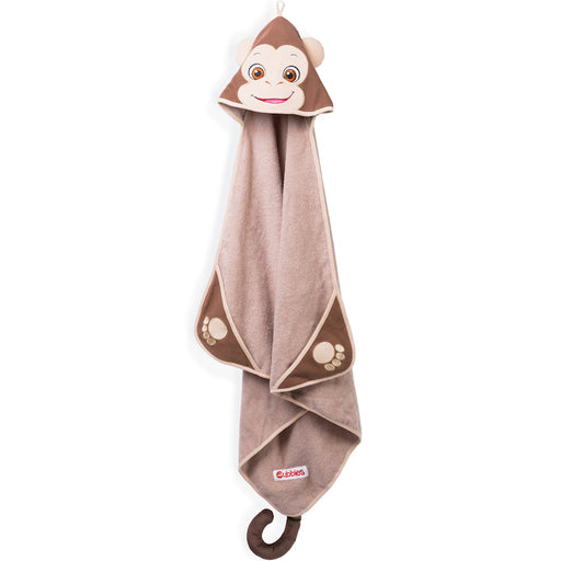 "Baby Cubbies Hooded Bath Towel - Monkey ""Bugaloo"""
