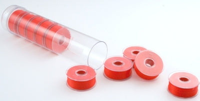 Clear-Glide Plastic Sided Embroidery Bobbins - Tubes of 8 Class 15