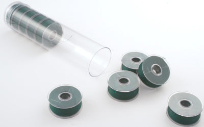 Clear-Glide Plastic Sided Embroidery Bobbins - Tubes of 10 Class L