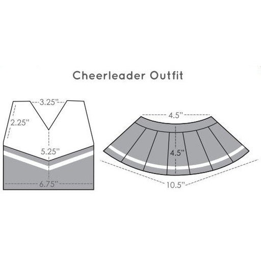 Bear and Doll Cheerleader Outfits