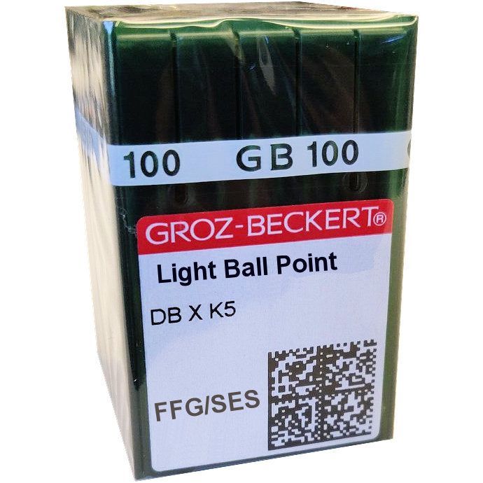 DBxK5SES Groz Beckert Commercial Embroidery Needles - 100/Box - FFG Med. Ball Point