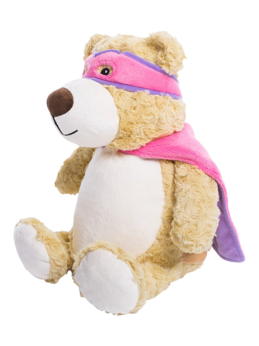 Cubbies Embroidery Blank - Pink/Purple Superhero Bear