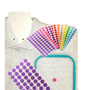 Removable Embroidery Placement Dot Target Stickers