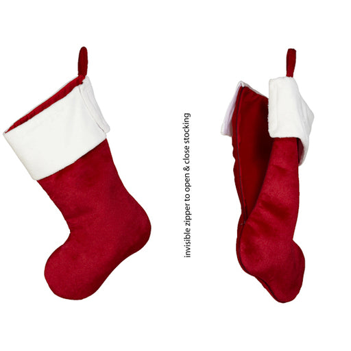 "19"" Embroider Stocking - The Easy To Embroider Christmas Stocking"