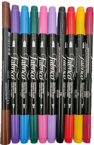 Fabrico Permanent Dual Tip Fabric Marker Individual Colors