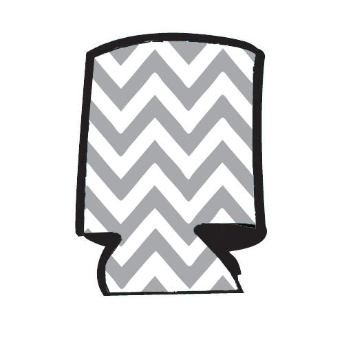 Unsewn Blank Can Cooler - Chevron Light Grey