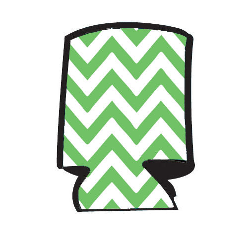 Unsewn Blank Can Cooler  - Chevron Lime