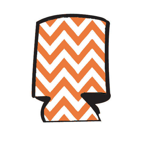Unsewn Blank Can Cooler  - Chevron Orange