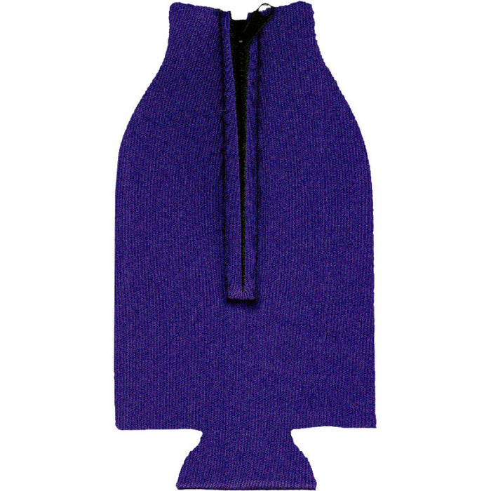 Unsewn Zipper Bottle Coolers Embroidery Blanks - Purple