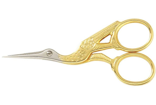 "Gingher 3½"" Gold-Handled Stork Embroidery Scissors"