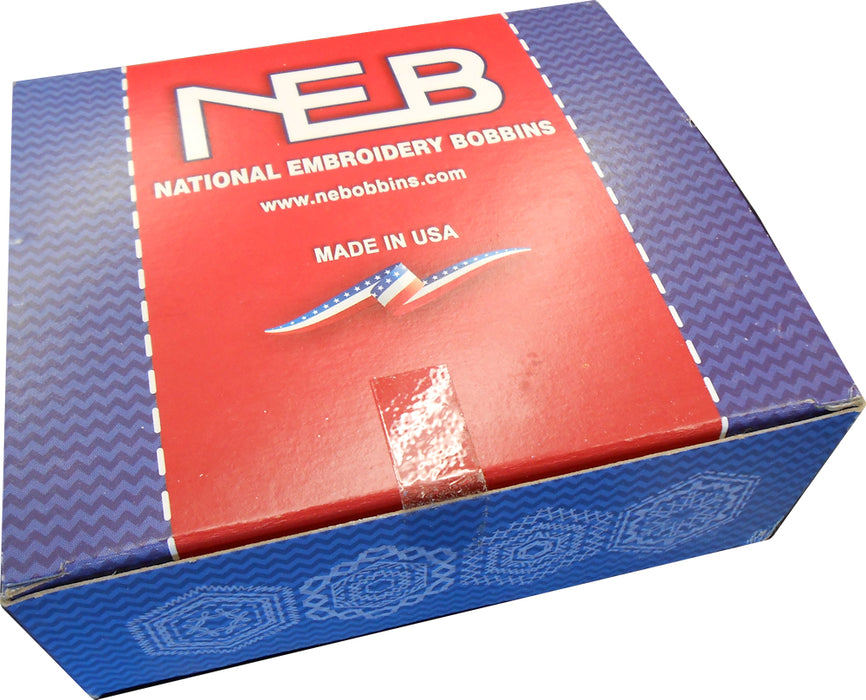 NEB National Embroidery Bobbins - Size L - Plastic Sided