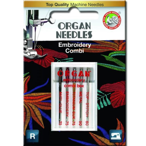 organ needles embroidery combi