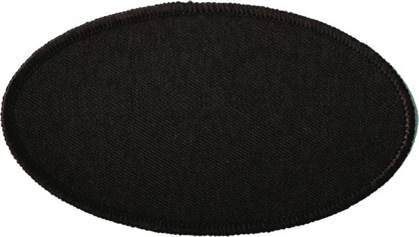"Oval Blank Patch 2-1/2"" x 4-1/2"" Black Background with Black Border"