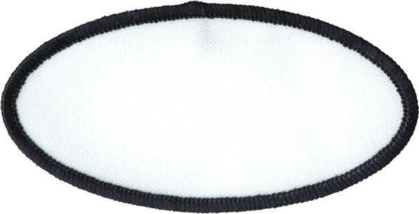 "Oval Blank Patch 2"" x 4"" White Patch w/Navy"