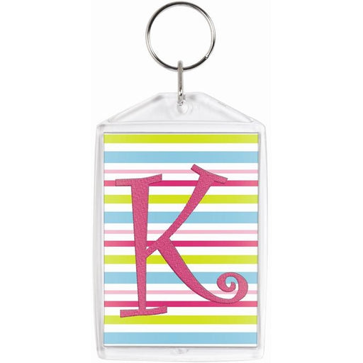 Clear Photo Insert Rectangle Key Chain