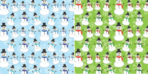 Quick Stitch Embroidery Paper: Snowmen
