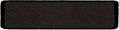 "Rectangle Blank Patch 1"" x 4"" Black Background & Black Border"