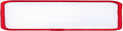 "Rectangle Blank Patch 1"" x 4"" White Patch w/Red"