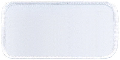 "Rectangle Blank Patch 1-5/8"" x 3-5/8"" White Patch w/White"
