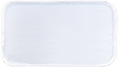 "Rectangle Blank Patch 2-1/2"" x 4-1/2"" White Patch w/White"