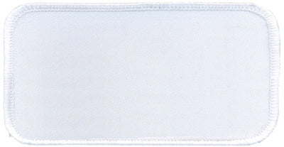 "Rectangle Blank Patch 2"" x 4"" White Patch w/White"