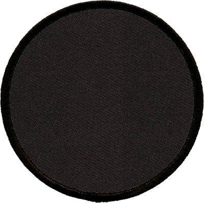 "Round Blank Patch 4"" Black Patch w/Black"