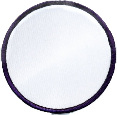 "Round Blank Patch 3-1/2"" White Patch w/Navy"