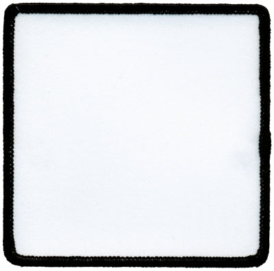 "Square Blank Patch 2-1/2"" x 2-1/2"" White Patch w/Black"