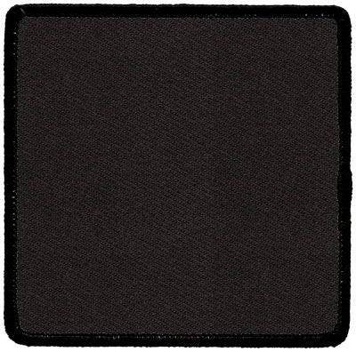"Square Blank Patch 3"" x 3"" Black Background & Black Border"