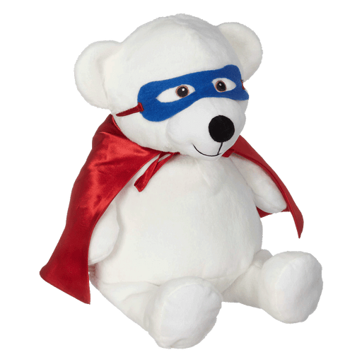 Red Superhero Cape & Blue Mask For Embroidery Buddy & Baby Cubbies